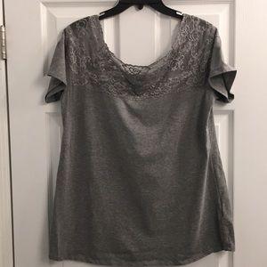 Lacey gray soft T-shirt